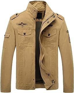 Realdo Mens Military Combat Jacket, Winner Casual Zipper Tactical Pocket Long Sleeve Cargo Coat
