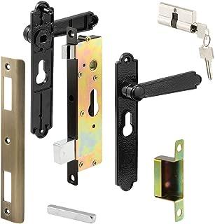 Prime-Line Products K 5092 Security Door Keyed-Locking Mortise Handle Set, Steel & Diecast Construction, Black