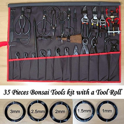 Lowest Prices! TimmyHouse 35 Pieces Bonsai Tools Kit with a Tool Roll