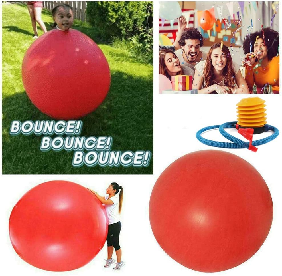 Giant Human Balloon Climb in, 72 Inch Latex Giant Human Egg Balloon,  Weather Balloon, Bounce Balloons, Amazing Bubble Ball, Funny Game Toys for  Kids with Inflator Pump : Amazon.ca: Home