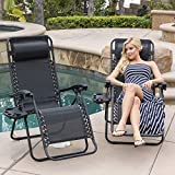 BELLEZE Set of (2) Zero Gravity Chair Lounge Chairs Patio...