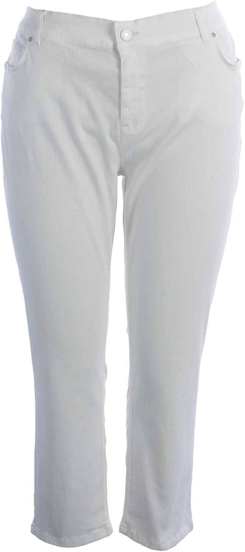Marina Rinaldi Women's Ragione Low Waist Jeans White