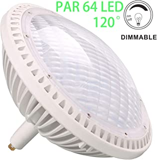 BAOMING PAR64 WFL LED Bulb 40W Replace Traditional 500w PAR64 Dimmable 120° Warm White 2700~3000K 120V GX16D