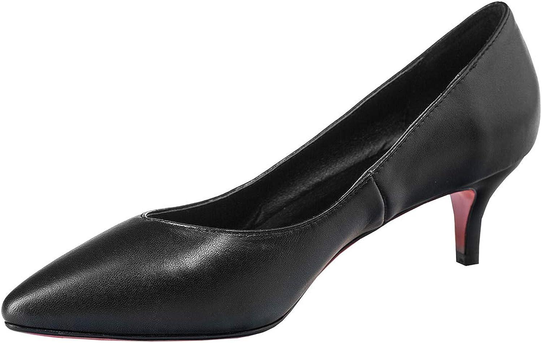 Artfaerie Womens Low Kitten Heel Pointed Toe Pumps Dress Work Office Comfortable shoes