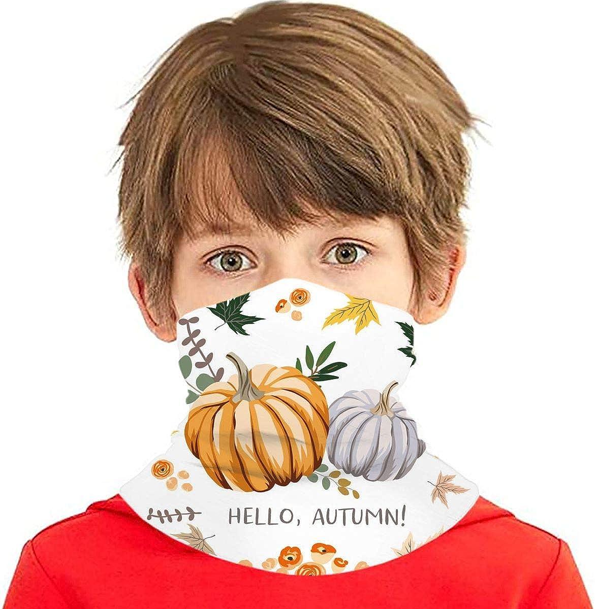 Dujiea Kids Bandanas Face Mask Fall Sun Popularity UV Dust gift Pumpkins Autumn