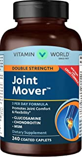 Vitamin World Double Strength Joint Mover | Joint Support Nutritional Supplement feat. Glucosamine, MSM, Chondroitin to Support Joint Comfort and Flexibility, 240 Caplets