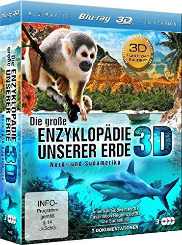 Die große Enzyklopädie unserer Erde: Nord- und Südamerika (Amerikas Südwesten 3D, Faszination Regenwald 3D, Die Südsee 3D) (3 Disc Set) [3D Blu-ray]