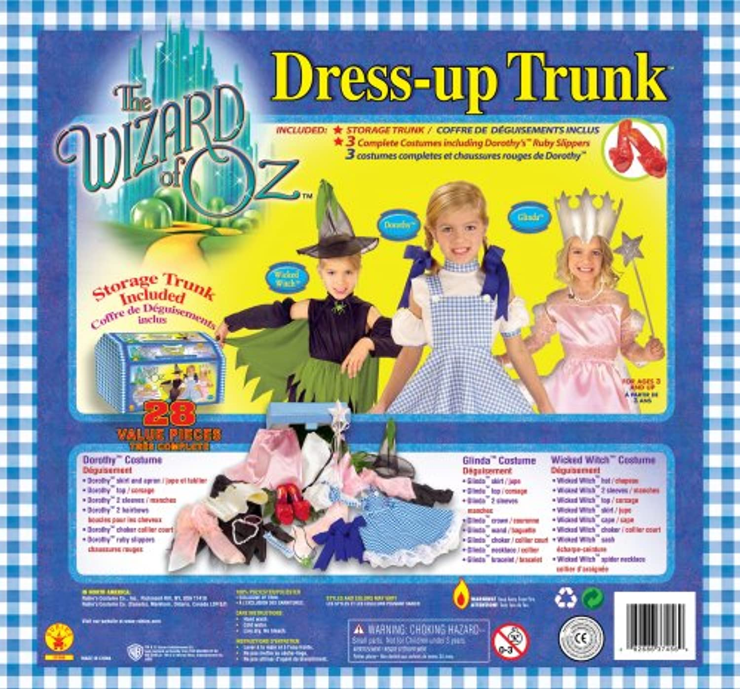 Rubies Kostme The Wizard Of Oz Dress Up Trunk Kinderkostm Kits OneSize