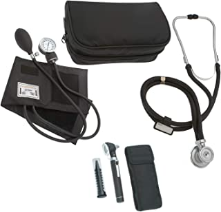 ASA TECHMED | Nurse Essentials Profesional Kit with Handheld Travel Case | 3 Part Kit Includes Adult Aneroid Sphygmomanome...