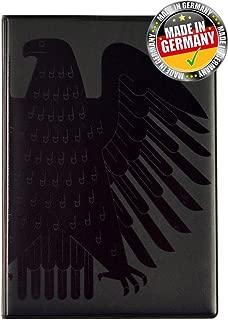 RFID Blocking Passport Cover Black Eagle TÜV test seal PP Holder/Case/Wallet