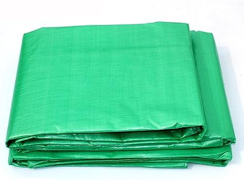 GLJ Toile De Bache épaisse Bache en Plastique Bache Pare-Soleil Pare-Soleil Tissu Voiture Bache bache (Couleur   vert, Taille   4  5m)