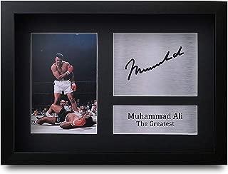 HWC Trading Muhammad Ali A4 Enmarcado Regalo De Visualización De Fotos De Impresión De Imagen Impresa Autógrafo Firmado por Los Fanáticos del Boxeo