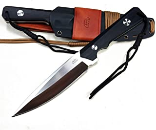 B.B.F Make Fixed Blade Survival Knife with 6.7 Inch Full Stainless Steel Blade – Tactical Knives with KYDEX & Leather Sheath– 12.2'' Full Length – Perfect for Outdoor Camping and Survival