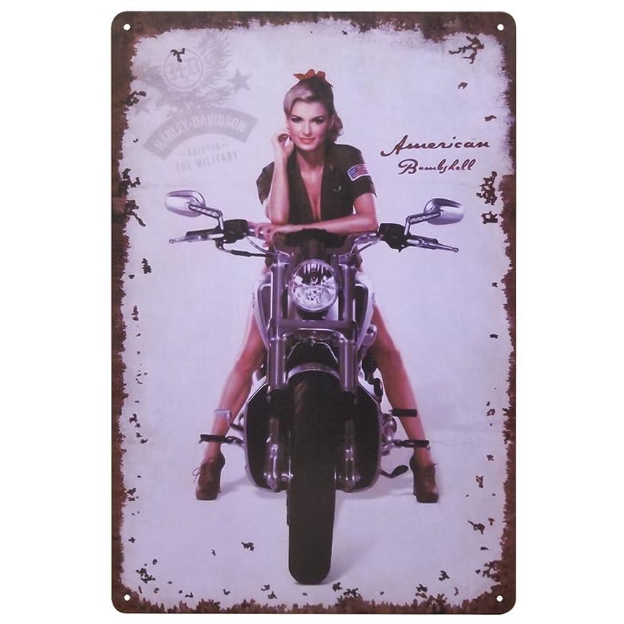 ドナウ川洪水キャラクター[ファン] Fun! ブリキ看板 ハーレーダビッドソン am ポスター バイク インテリア雑貨 アメリカン雑貨