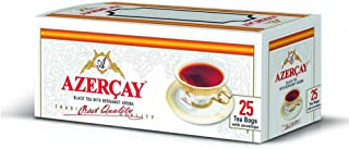 Black Tea with Bergamot Aroma from Azerbaijan 25 Tea Bags Envelope 50g (Azercay)