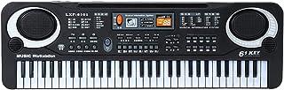 FANHUA 61 Keys Black Digital Music Electronic Keyboard Key Board Electric Piano Kids Gift Musical Instrument
