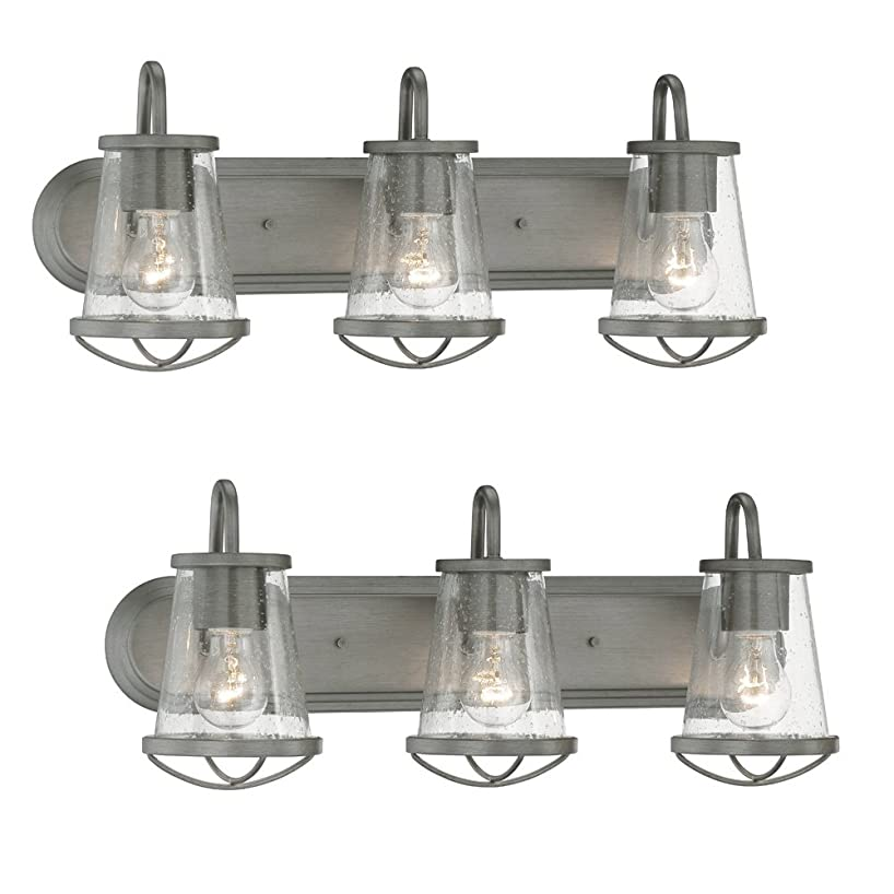 Designers Fountain 87003-WI Darby 3 Light Bath Bar (weathered iron - 2 Pack)