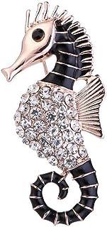 PULABO Broche de caballo de mar con diseño de animales, accesorio de novia, regalo de oro rosa, exquisita mano de obra