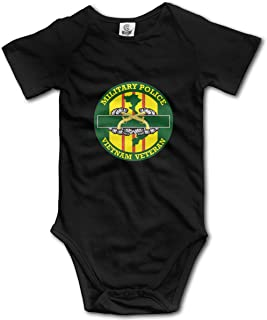 Military Police Vietnam Veteran Infant Baby Shorts Sleeve Bodysuits Rompers Outfits