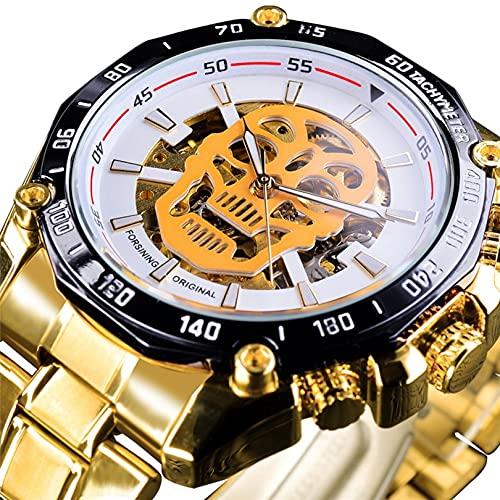 Excellent Relojes de Pulsera para Hombres Reloj mecánico de Acero Inoxidable 3atm 30 Metros Reloj de Pulsera Luminosa con Correa de Acero Inoxidable, Reloj para Hombres, Regalo para él,A01