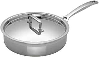 Le Creuset 3-Ply Sartén Sauté con tapa, Ø 24 cm, acero inoxidable, para todo tipo de fuentes de calor (incl. inducción) y horno, metálico