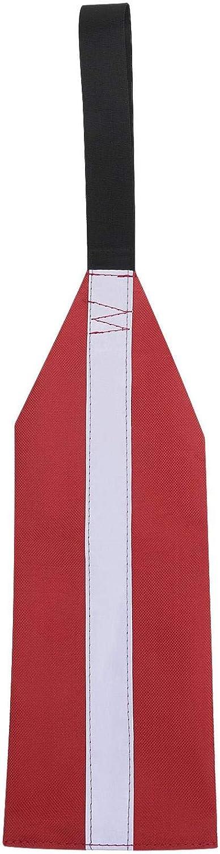 humorous Safety Travel Flag Kayak Safety Flag Long Load Travel Safety Flag Red Warning Flag For Kayak Canoes SUP Towing Warning Flag With Webbing 13 X 35cm