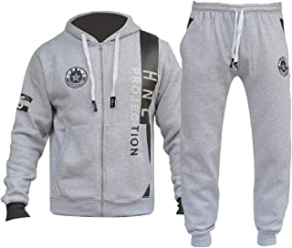 AIBBMIN Mens Athletic Tracksuit Warm Jogging Running Long Sleeve Pullover and Pants Sweatsuits