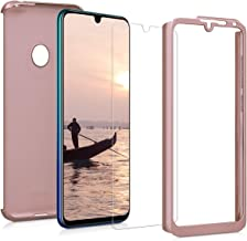 kwmobile Cover for Huawei Y7 (2019) / Y7 Prime (2019) - Shockproof Protective Full Body Case with Screen Protector - Metallic Rose Gold