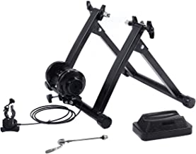 Giantex Steel Bike Trainer Stand, Indoor Bicycle Exercise Magnetic Stand w/ 5 Levels of Resistance, Bike Stationary Workout Trainer Stand,Black