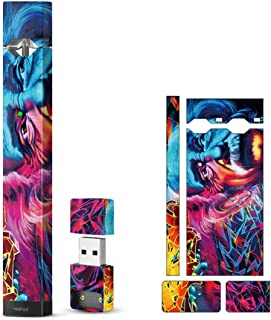 2 Packs - Decal Sticker Vinyl Skin for Juul Vape, Protective Cover Wrap Sleeve Case Fits JUUL