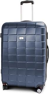 MS-Point BERWIN Trolley Reisekoffer Reisetasche Gepäcktasche Größe XL Squares Farbe Dunkelblau