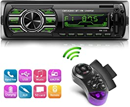 NWOUIIAY Radio Coche Autoradio Bluetooth Reproductor MP3 de Coche Radio MP3 USB Estéreo para Automóvil Llamadas Manos Libres para USB SD FM Teléfono AUX
