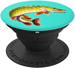 Full Feature Image Northern Pike Fisherman Fishing  PopSockets Grip and Stand for Phones and Tablets