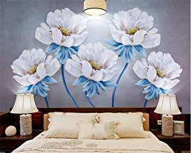 Mural wallpaper Customize Any Size Wallpaper Mural 3D Oil Painting Peony Flowers Background Wall Murals Papel De Parede 3D...