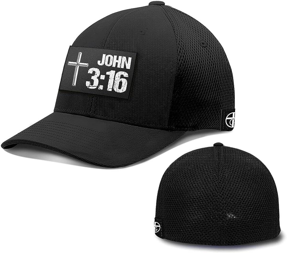 One True God John 3:16 Patch Flexfit Hat Christian Bible Quote Baseball Cap