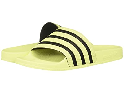 adidas Adilette Slide (Ice Yellow/Ice Yellow/Core Black) Women