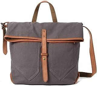 Fashion Handbags Vintage Shoulder Leather laptop bag Handheld Outside Shopping Leather laptop bags Waxed Canvas Shoulderbag JUYOUSHENGKEJI
