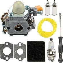 Mckin 308054003 C1U-H60 Carburetor fits Homelite Ryobi CS30 SS30 BC30 PC30 TP30 985624001 985308001 3074504 25cc 30cc String Trimmer Brushcutter with Air Filter Tune Up Kit