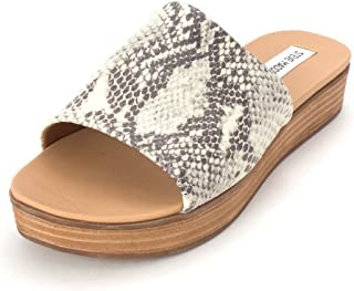 1eb3e7c4eb4c Steve Madden Womens Genca Leather Open Toe Casual Platform Sandals
