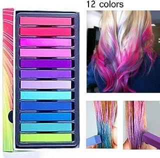 comprar comparacion tiza de pelo color temporal del pelo, no tóxicas,Geniales para disfraces, trajes para representaciones y crear looks moder...