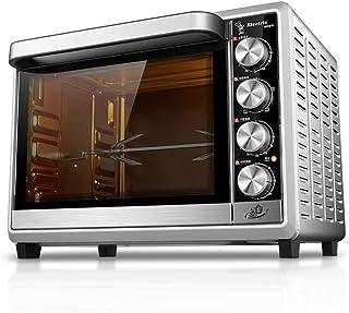 Mini horno de acero inoxidable multifunción para el hogar con temporizador - Tostada - Hornear - Ajustes de asado - 1600 vatios de potencia, incluye bandeja para hornear y rejilla