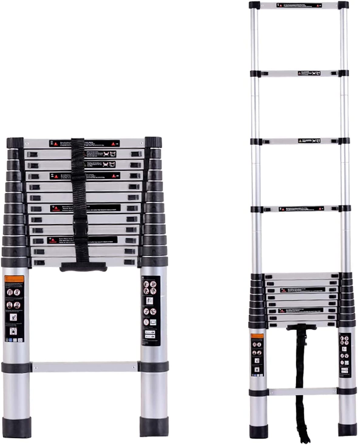 HBSC Telescopic Straight online shop Ladder Aluminium Fol Max 64% OFF Extension Portable