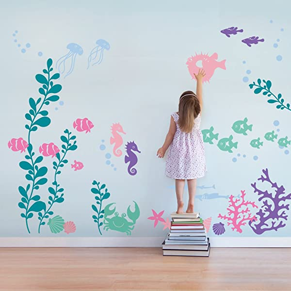 Under The Sea Wall Decals Scheme B By Simple Shapes