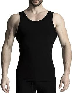 MD Bamboo Rayon Slim Tight Undershirts Men Crew Neck Tank Tops