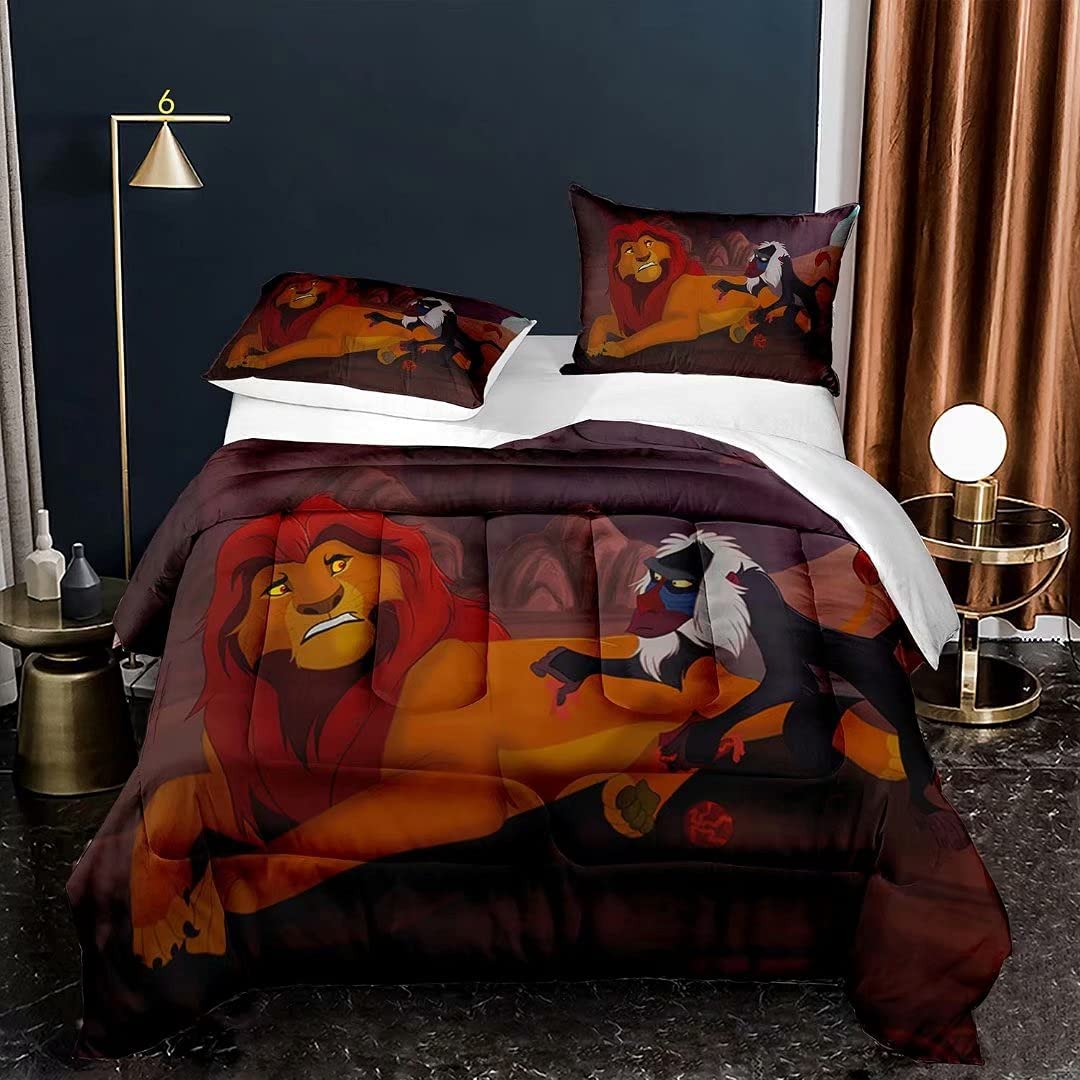 Opening large release sale Indianapolis Mall Oddtync The Lion King Quilt Set Kids Full Simba Size Bedding for