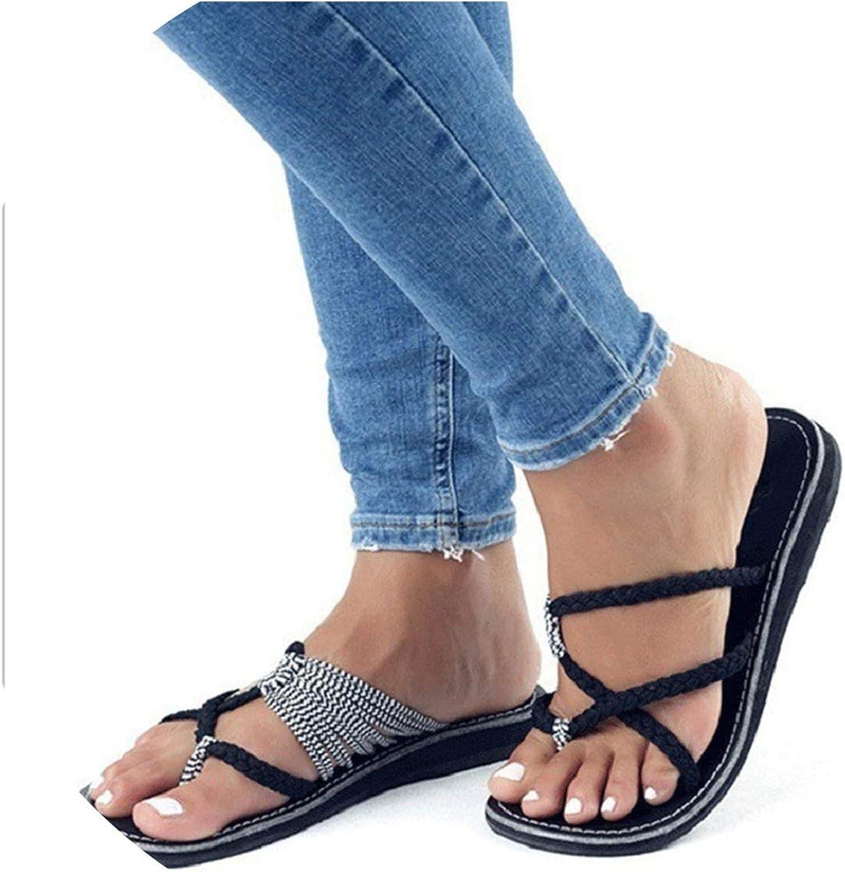 Tiwcer Women Slippers Cross Lace Up Beach Flip Flops Roman Peep Toe Slides Big Size Black Ladies shoes