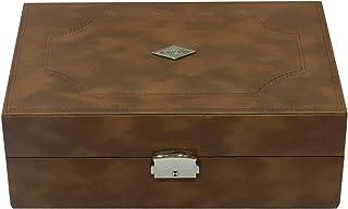 Laveri 8 Watches Storage Box - Tan
