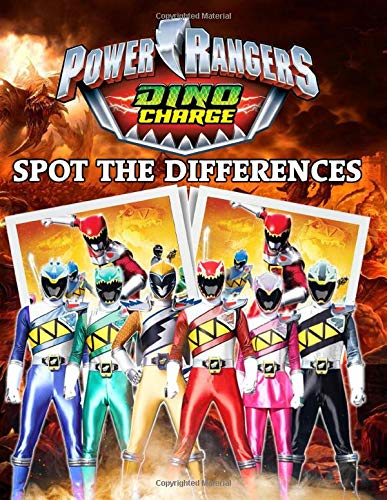 Power Ranger Dino Charge Spot The Difference: Excellent Power Ranger Dino Charge Adult Activity Find The Difference Books For Women And Men Relaxation