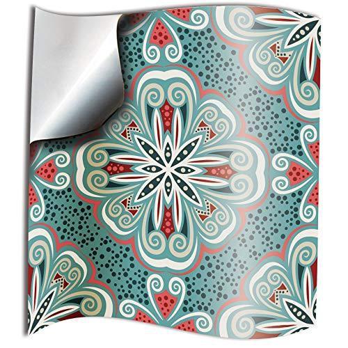 Tile Style Decals 24 stück Fliesenaufkleber für Bad und Küche (TP80 Turkish Mint) | Mosaik Wandfliese Aufkleber für 15x15cm Fliesen | Deko Fliesenfolie für Bad u. Küche