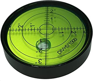 umei High precision horizontal bubble Aluminium Case Bullseye Spirit Bubble Surface Level Round Inclinometers for Surveying Instruments and Tribrachs, 60mm,Accuracy 15'/2(60x12mm)